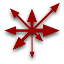 Asymmetrical symbol of Chaos